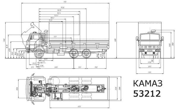 Технические характеристики автомобиля «КамАЗ-53212»