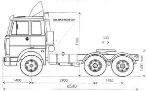 Технические характеристики «МАЗ-64229»