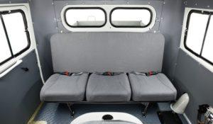 Пассажирский отсек кабины УАЗ-39094