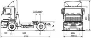 Технические характеристики МАЗ-5440