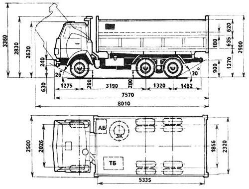 Основа конструкции «КамАЗ-55102»
