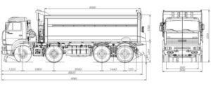 Технические характеристики «КамАЗ-65201» в цифрах