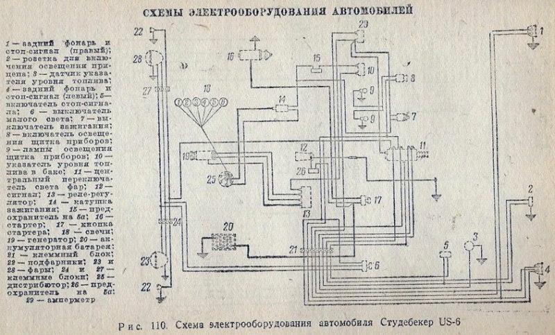 Рисунок 14. Схема электрооборудования, для тех, кто разбирается в автомобильных проводках.