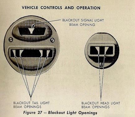 Рисунок 15. Светомаскировочные устройства заднего фонаря и подфарника.