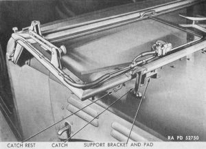Рис 31. Откинутая общая рама открытых кабин