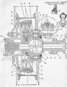 Рис 12. Поворотный кулак и ступица ЗИС-151