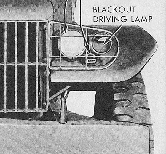 Рис 28. Единственная светомаскировочная фара
