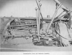 Рис 6. Компоновка рычагов и приводов управления трансмиссией Студебекера, ЗИС-151 и ЗИЛ-157