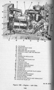 Рис 20. Вид двигателя слева