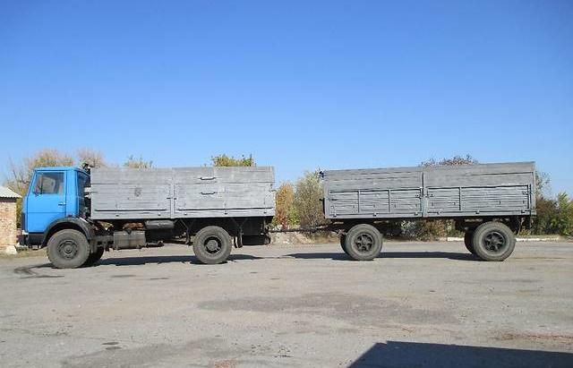 Грузовая платформа и прицеп «МАЗ-5337»
