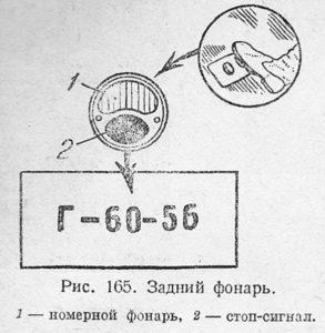 Задний фонарь ЗИС-5