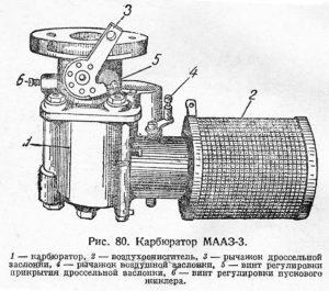 Карбюратор МААЗ-3
