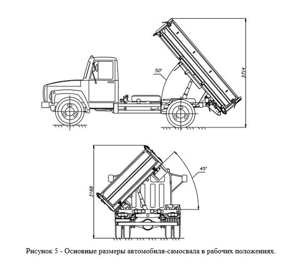 Самосвальное устройство грузовой платформы
