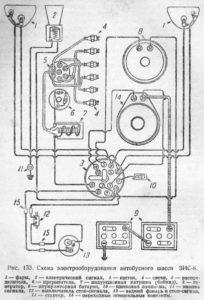 Схема электрооборудования ЗИС-8