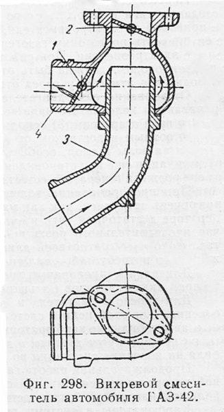 Вихревой смеситель автомобиля ГАЗ-42