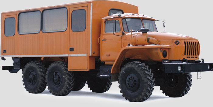Базовое и дополнительное оснащение вахтового автобуса Урал 32551-0010-41