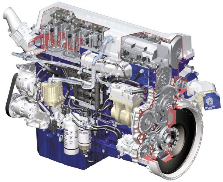 Двигатель Вольво FMX 8x4