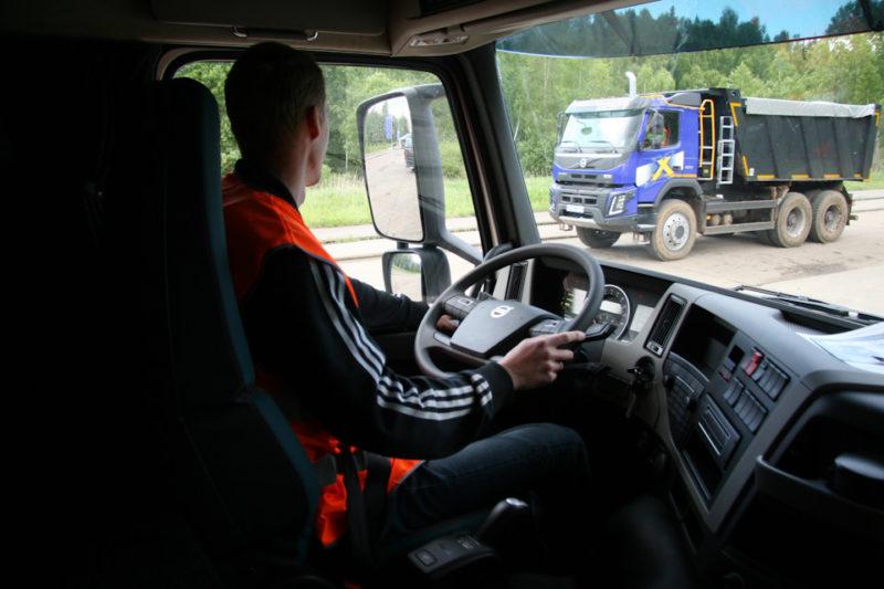 Кабина и рабочее место водителя Volvo FMX 6х4