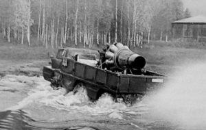 Плавающий трёхосный вездеход ЗИЛ-132П-01